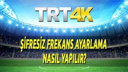 TRT 4K HD Şifresiz Frekans ayarlama nasıl yapılır?