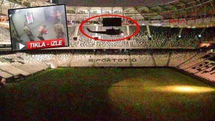Darbeciler Vodafone Arena'ya böyle inmiş!