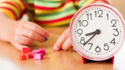 Çocuklara saati öğretmek istiyorsanız bunu deneyin