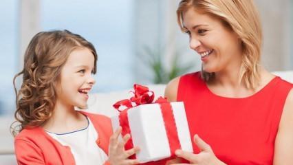 Çocukların annelerine alabilecekleri hediyeler...