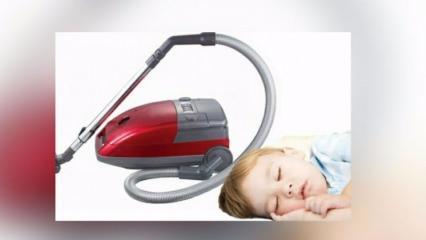 Bebekleri süpürge sesiyle uyutmak tehlikeli mi?