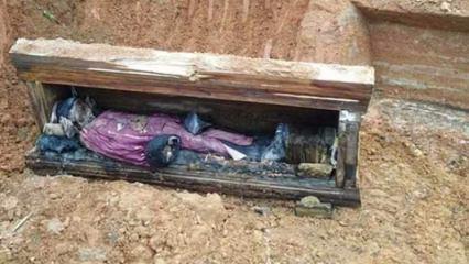Çin'de bir tabutun içinde tarihi ceset bulundu!