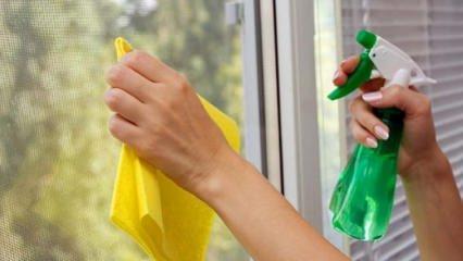Camdaki lekeleri temizlemenin püf noktaları