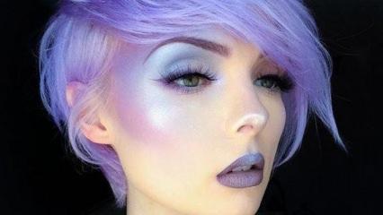 Makyajda sıra dışı trend: Mor aydınlatıcı