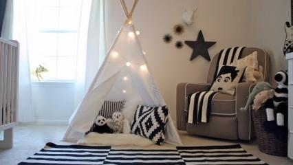 Dekorasyonda yeni moda: Ev çadırları
