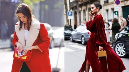 Kırmızı kıyafetler nasıl kombinlenir?