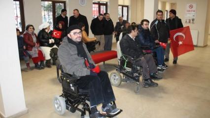 Engelli bireylerden Mehmetçiğe anlamlı destek