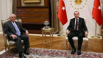 Erdoğan-Tillerson görüşmesi sonrası ilk açıklama!