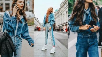 Sokak modasında yeni trend: Baştan aşağı denim