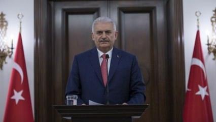 Başbakan Yıldırım Çankaya'da açıklama yaptı