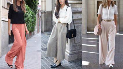 Bol paça pantolon modası