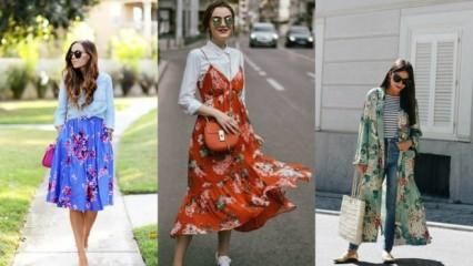 Floral desenli elbiseler nelerdir?