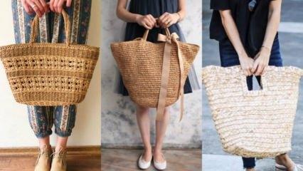 Modanın son gözdesi: Hasır çanta trendi