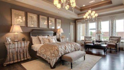 Yatak odası için aydınlatma fikirleri