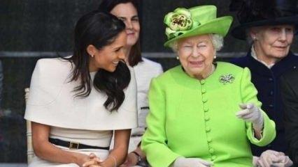 Kraliyet ailesinde bir ilk! Megan ve Kraliçe...