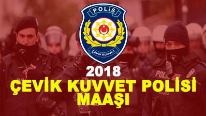 Çevik Kuvvet Polisi maaşı ne kadar? (2018)
