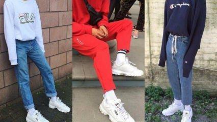 FILA spor ayakkabılarına kombin önerileri