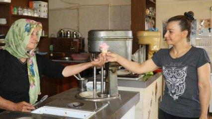 66 yaşındaki Emine teyze dondurmacı oldu!