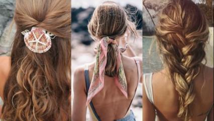 Plajda kullanabileceğiniz bandanalı saç modelleri