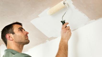 Badana nasıl yapılır? Tavan boyamanın püf noktaları