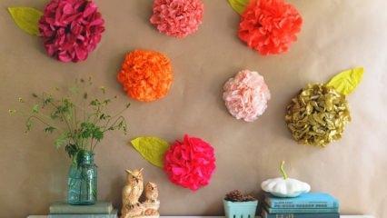 Renkli kağıtlarla duvar süsleme!