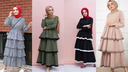 Sezonun yeni trendi kat kat elbiseler