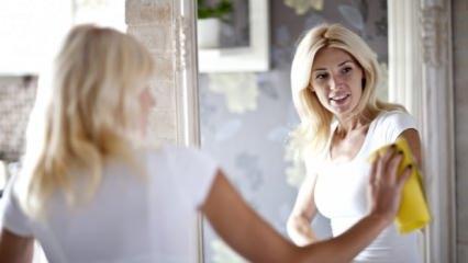 Ayna temizlemenin püf noktaları nelerdir?