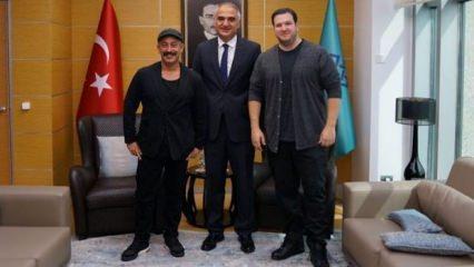 Kültür Bakanı Ersoy  Cem Yılmaz ve Şahan Gökbakar'la görüştü