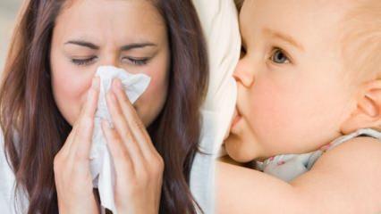 Grip olan anneler bebeğini emzirebilir mi? Grip annelerin bebek emzirme kuralları