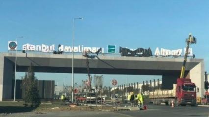 Yeni Havalimanında dikkat çeken ayrıntı