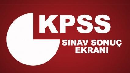 KPSS ortaöğretim sınav sonuç ekranı! 2018 ÖSYM lise sınav sonuçları...