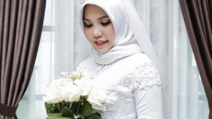 Kazada ölen nişanlısı için tek başına düğün fotoğrafı çektirdi