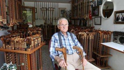 88 yaşındaki baston ustası