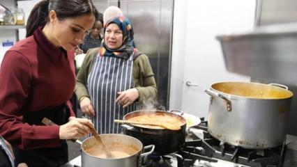 Meghan Markle çorba dağıttı
