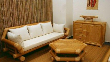 Bambu salon dekorasyonu