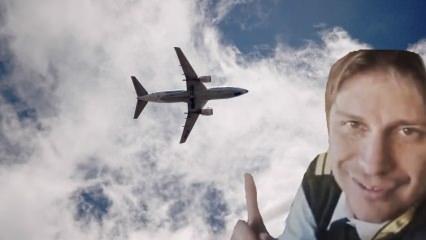 Brezilyalı pilot bulutlar üzerinde Müslüman oldu!