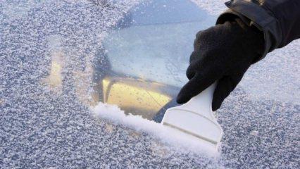 Araba camlarının buzlanması nasıl önlenir?