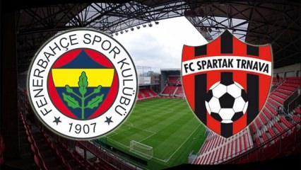 Fenerbahçe - Spartak Trnava maçı ne zaman? Karşılaşmayı şifresiz veren kanallar