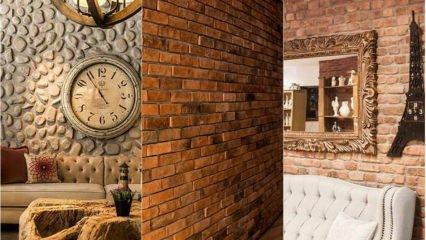 Ev dekorasyonunda tuğla duvarı için öneriler