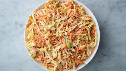 Pratik Coleslaw lahana salatası nasıl yapılır?