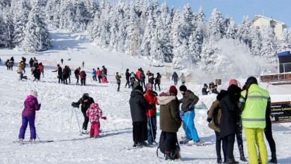 Uludağ'da kar kalınlığı 1 metreyi geçti