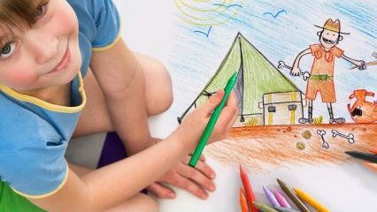 Çocuklara boyama nasıl öğretilir? Evde sulu boya etkinlikleri! Doğal sulu boya yapımı