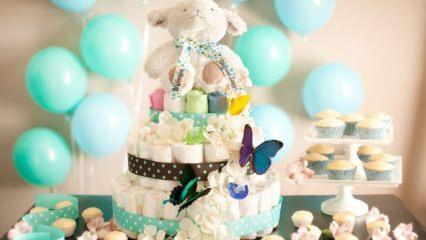 Bebek bezinden pasta nasıl yapılır?
