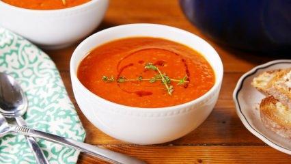 En kolay domates çorbası nasıl yapılır? Evde domates çorbası yapmanın püf noktaları
