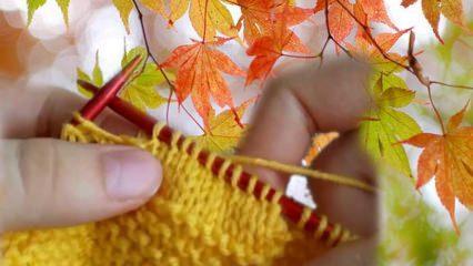 Çınar yaprağı örgüsü en pratik nasıl yapılır?