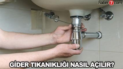 Tıkalı gider borusu nasıl açılır? Kolay yollarla lavabo açma yöntemleri!