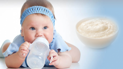 Bebekler için kolay pirinç unlu mama tarifi! 6 aylık bebek muhallebisi nasıl yapılır?