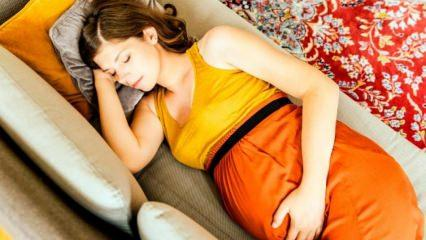 Hamilelikte nasıl oturulmalı ve yatılmalı? Hamilelikte sağlıklı ve ideal uyku pozisyonu