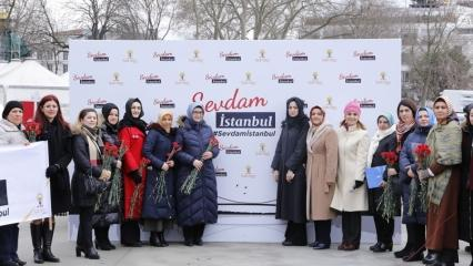AK Parti İstanbul Kadın Kolları Sevdam İstanbul yürüyüşünde!