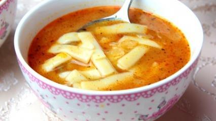 Nefis erişte çorbası tarifi